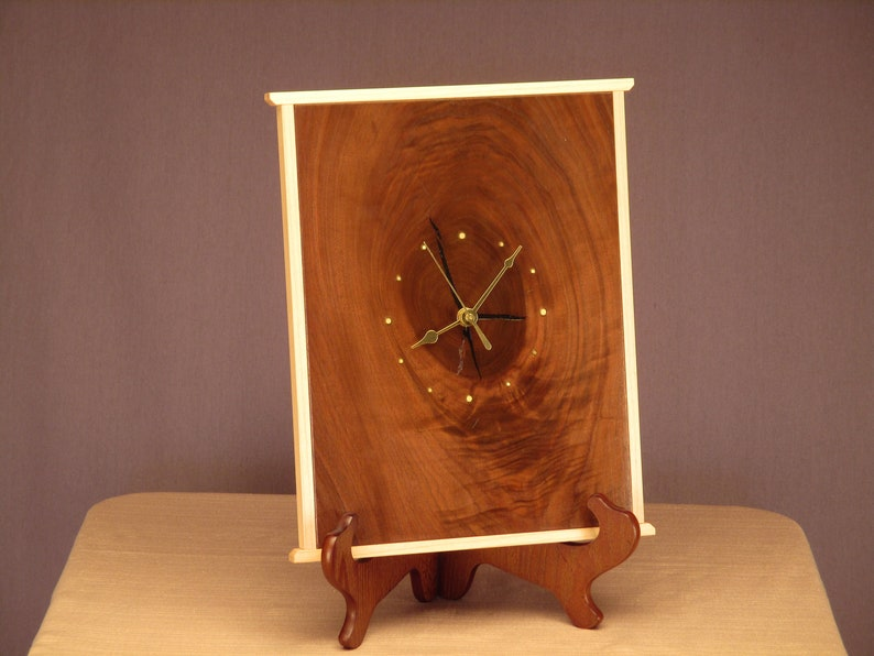 Rustic Walnut Wall Clock image 0