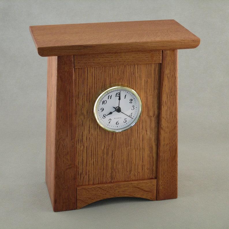 Arts & Crafts Mission Style Clock  Quarter Sawn Oak image 0