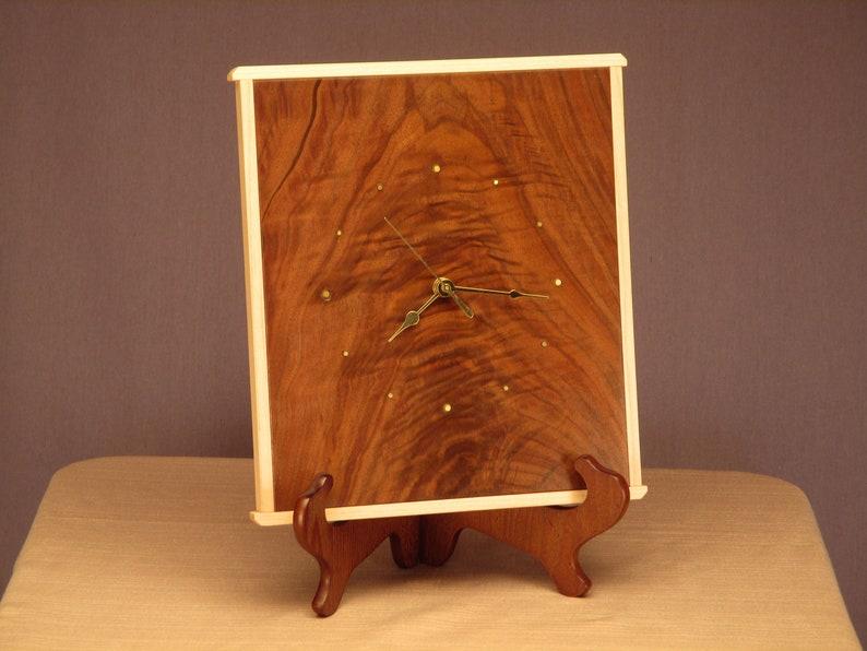 Rustic Walnut Wall Clock image 0