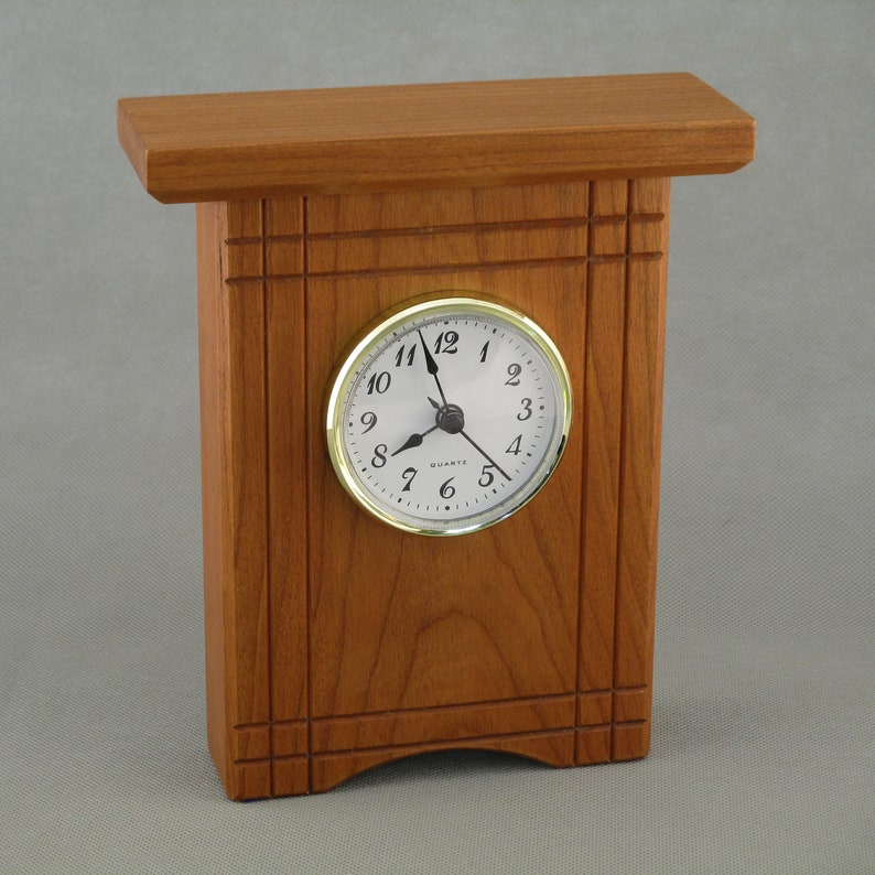 Cherry Desk Clock with Accents image 0