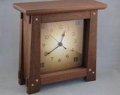 Arts & Crafts, Mission Style Clock - Walnut