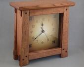Arts & Crafts, Mission Style Clock - Quarter Sawn Oak
