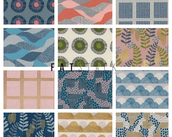 PREORDER August ship Imagined Landscapes Quilting Cotton 12 piece full yard bundle Quilting cottons Printmaker fabric Jen Hewett