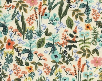 Rifle Paper Co. fabric 8044-01 Amalfi collection Herb Garden Natural Quilting cotton Modern fabric Rifle fabric Bohemian fabric Navy fabric