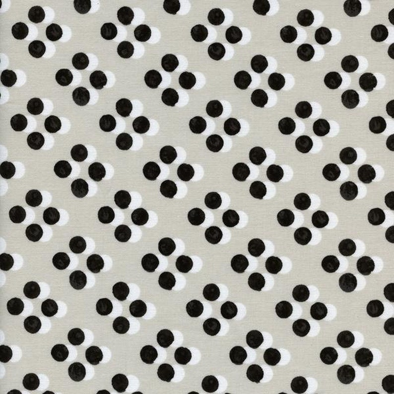 Polka Dot Fabric Black White Dot Sunday Dress Cotton And Steel Quilting Cotton Black White Quilt Nursery Decor Fabric Quilting Fabric