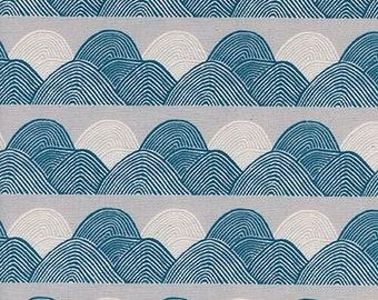 PREORDER August Ship 9013-01 Imagined Landscapes Jen Hewett Headlands Moonlight Cotton & Steel fabrics Modern quilting cotton Cloud fabric