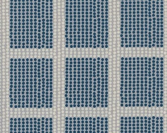 PREORDER August Ship 9012-01 Imagined Landscapes Jen Hewett The Avenues Moonlight Grid Cotton & Steel fabrics Modern Geometric fabric
