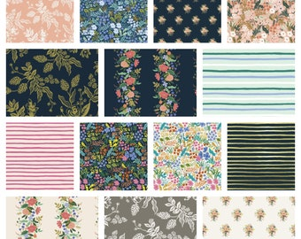 PREORDER August ship English Garden Rifle Paper Co Full yard bundle Rifle paper English garden Quilting cottons Floral fabric