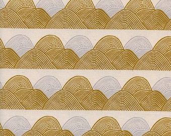 PREORDER August Ship 9013-02 Imagined Landscapes Jen Hewett Headlands Golden Hour Cotton & Steel fabrics Modern quilting cotton Cloud fabric