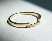 Nora, micro pave engagement ring, thin diamond band, thin wedding bands women, delicate diamond wedding band, diamond wedding band women