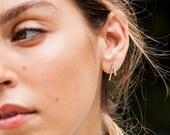 YVONNE pave diamond earring post, 14k gold diamond stud earrings