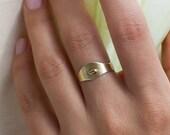 Florine, 14k gold signet ring, 14k solid gold signet ring, dainty signet ring, thin signet ring, minimal gold ring, signet wedding ring