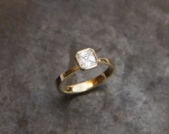Corrine engagement ring, half carat diamond engagement ring