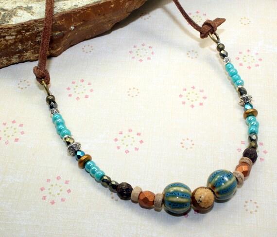 Beach Retro Boho NEW //Unisex Seed Bead Necklace Hippy Summer Vintage