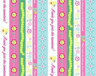 FABRIC DESTASH Spring Lovely Stripes, Delovely by Cosmo Cricket, 1 yard