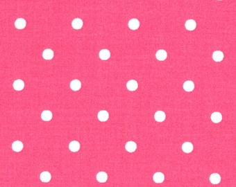 """FABRIC DESTASH Dots Pink/White, Quilter's Showcase, End of Bolt Fat 1/2 yard 36"""" long by 22"""" wide"""