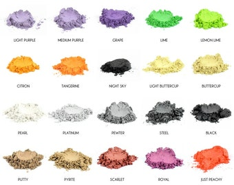 Mineral Eye Makeup Samples - Choose Your Own Colors - 5 Color Samples - Natural Eye Pigments - Highly Pigmented - Beautiful Eye Shadows