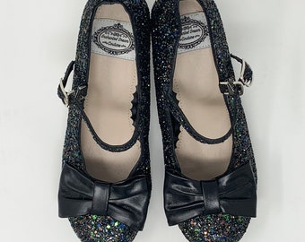 203db2ef42d Lolita mary jane leather glitter shoes.
