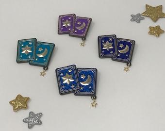 Gypsy cards enamel pin brooch