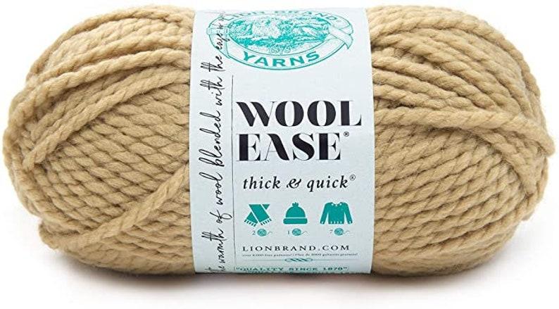 Destash Crochet Wool Ease knitting Thick /& Quick Peanut 640-127 yarn Skein Supplies Lion Brand