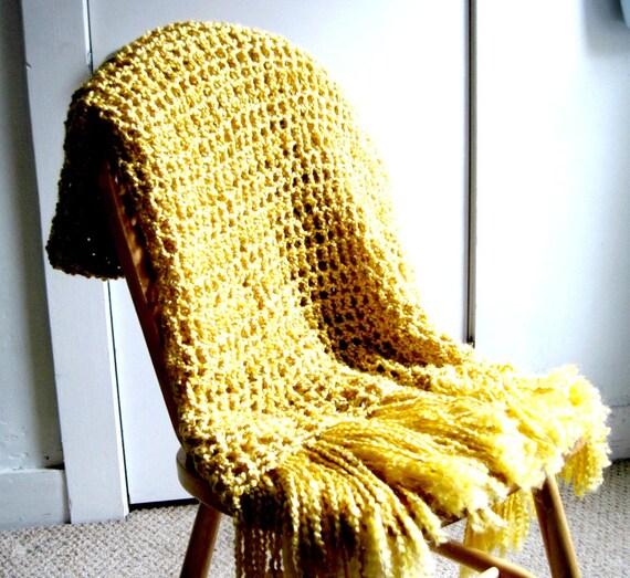 Mustard Yellow Throw Blanket Classy Yellow Throw Blanket Golden Yellow Fall Blanket Mustard Etsy