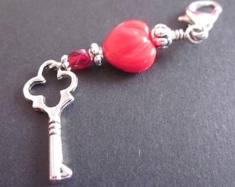 Hello, Sweetie - One Helper Marker - Repositionable Stitch Marker - Journal Charm - Zipper Charm