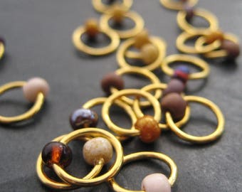 A Dose of Jasper - Non-Snag Stitch Markers - Choose Your Size