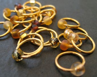 A Dose of  Topaz - Non-Snag Stitch Markers - Choose Your Size