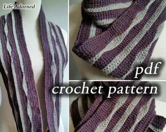 Crochet Pattern pdf - Infinite Lifelines Scarf