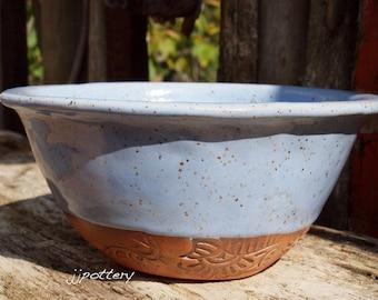 Bowl, Pottery Bowl, Serving Bowl, Handmade Bowl, Dinnerware bowl,  Serving Dish, Ceramic bowl, Stoneware Bowl, Blue bowl