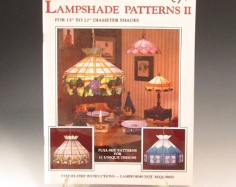 Stained Glass Vintage (1986) Lampshade Pattern Book - Lampshade Patterns 2 - by Randy and Judy Wardell