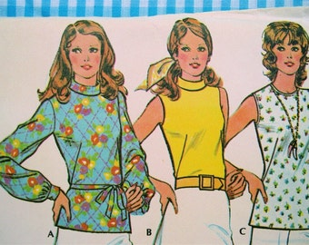 Vintage 1973 McCall's Pattern 3550 Miss Size 12 Sewing