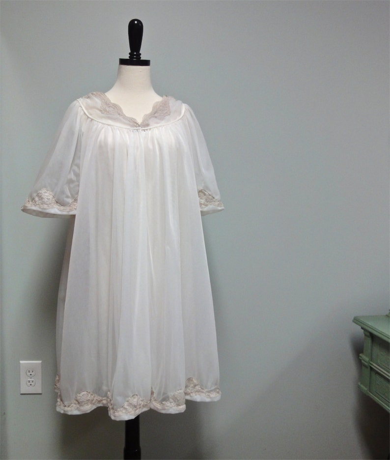 1950s Double Chiffon Peignoir Set Jenelle of California image 0