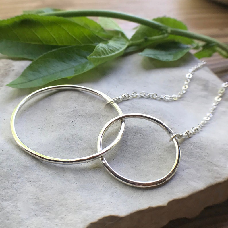 Eternity Necklace Interlocking Circles Necklace Sterling image 0