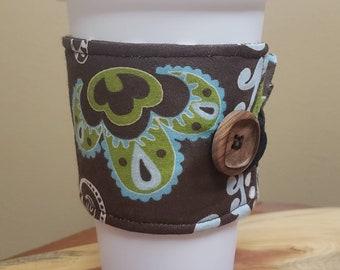 Earth Tones Java or Tea Jacket/Coffee Sleeve