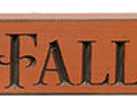 Happy Fall Engraved Block
