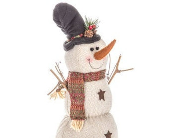 Snowman With Star Buttons