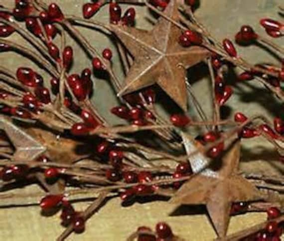 5 Ft. Pip Berry  n Star Garlands~Your Color Choice