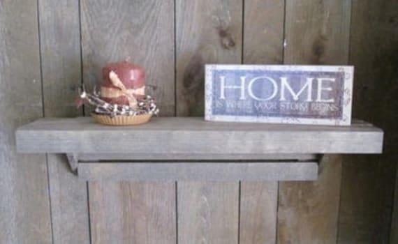 Lath Wood Shelf 24x6in~ Sale