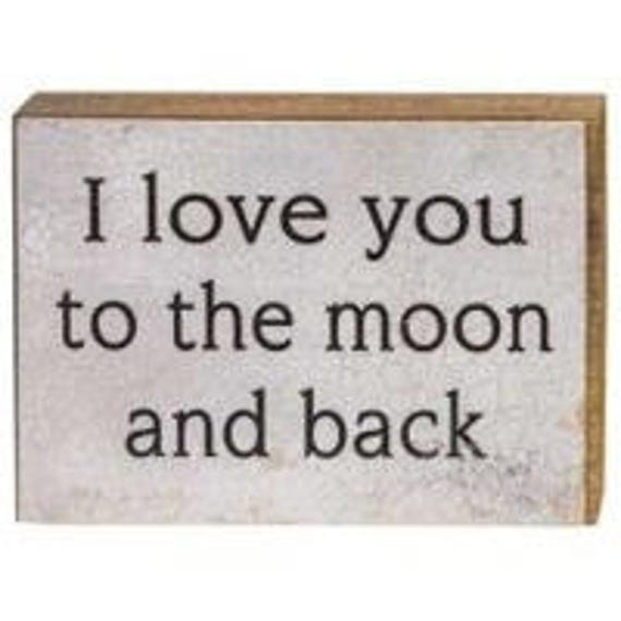 I love You To The Moon, Wood Block