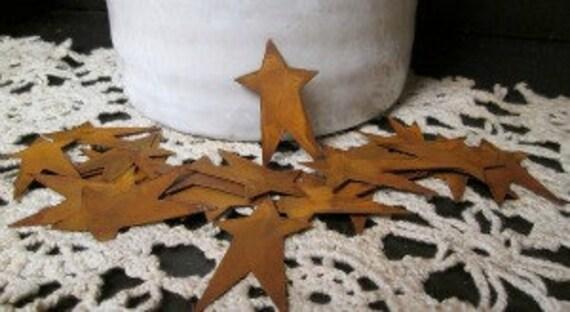 2in Rusty Tin Primitive Stars pk/12