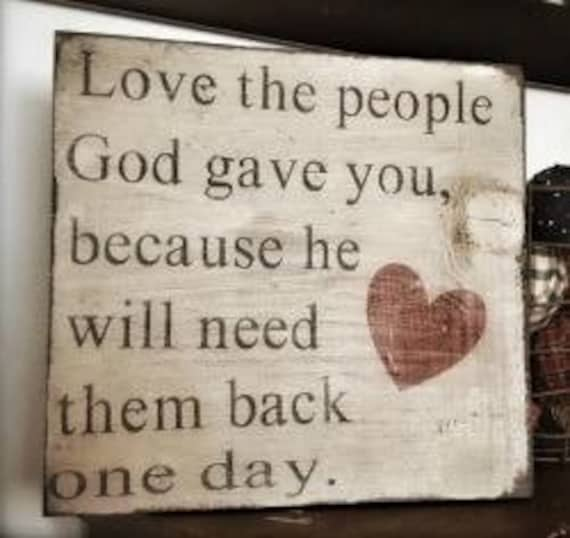 Love the People, Distressed wood sign
