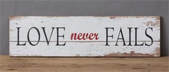 Wood Sign - Love Never Fails