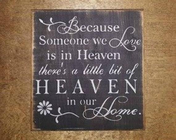 Heaven- Wood Sign