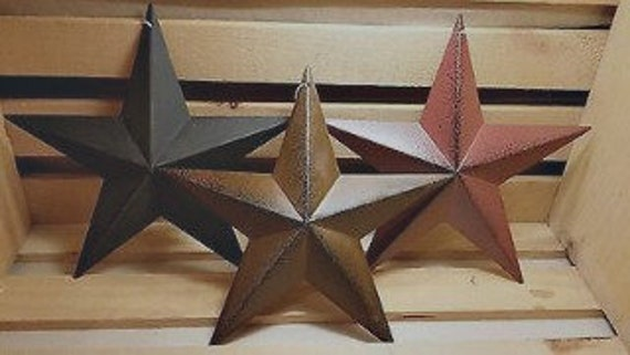 "Barn Stars 12""  Rusty, Burgundy, Black, or Whitewash"