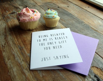 Relative Birthday Funny Note Card