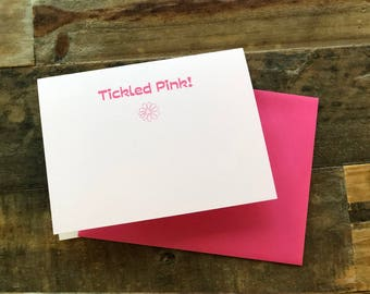 Tickled Pink Note Card, Thank You