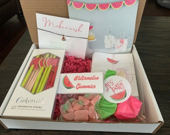 Watermelon virtual Party in a Box!  Celebrate ! Birthday!