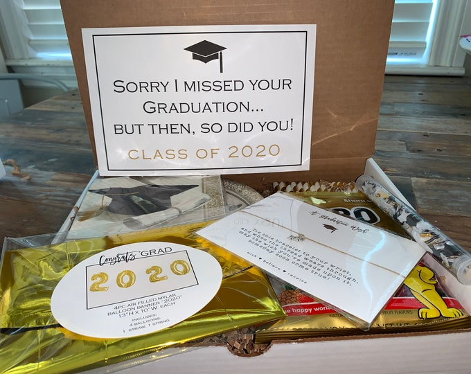 Graduation virtual Celebration Box! 2020 Party in a box, graduation gift.