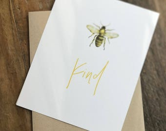 Bee Kind Card for Any Occasion
